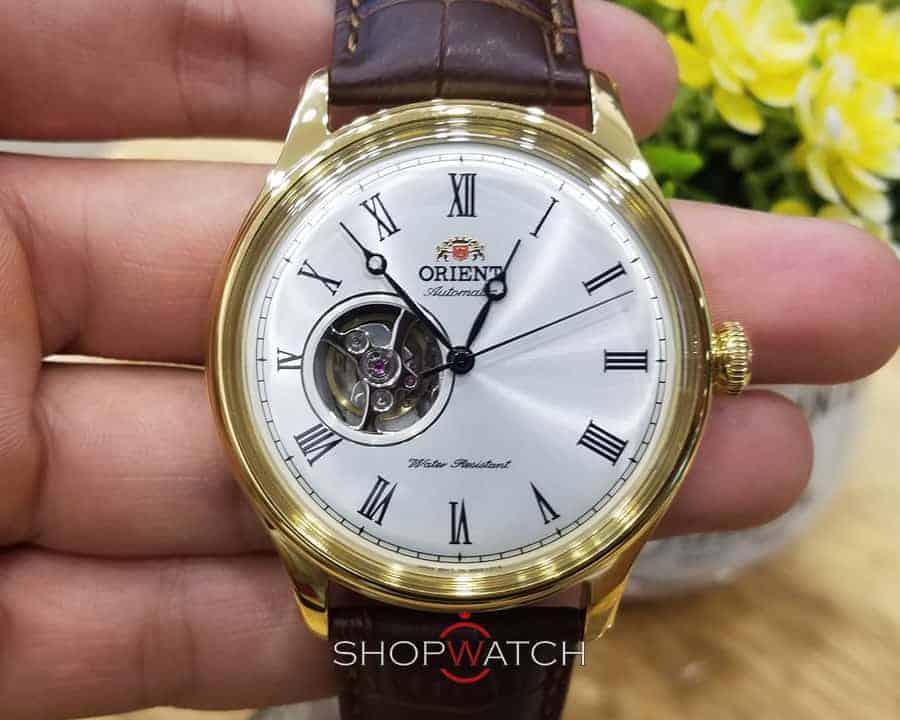 đồng hồ Orient FAG00002W0 dây da mạ vàng