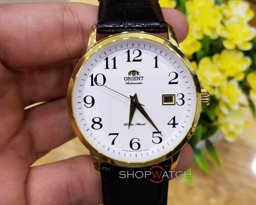 đồng hồ Orient FER27005W0 mặt trắng mạ vàng
