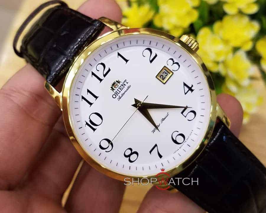 đồng hồ Orient FER27005W0 dây da mạ vàng