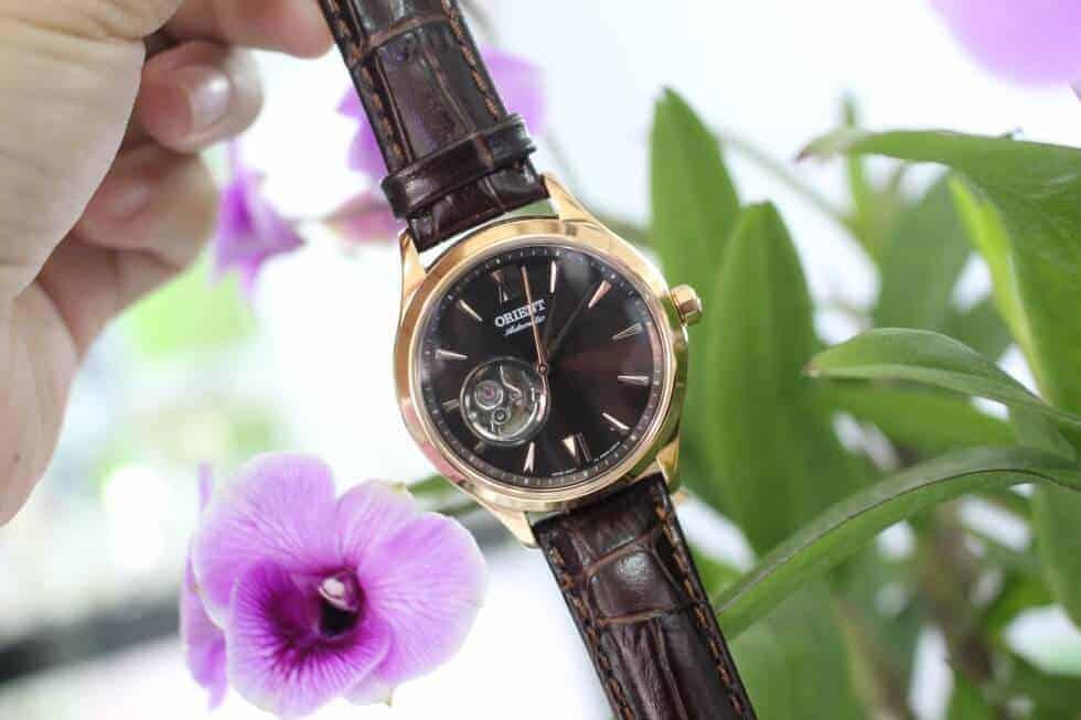 đồng hồ Orient FDB0A001T0 dây da cá sấu