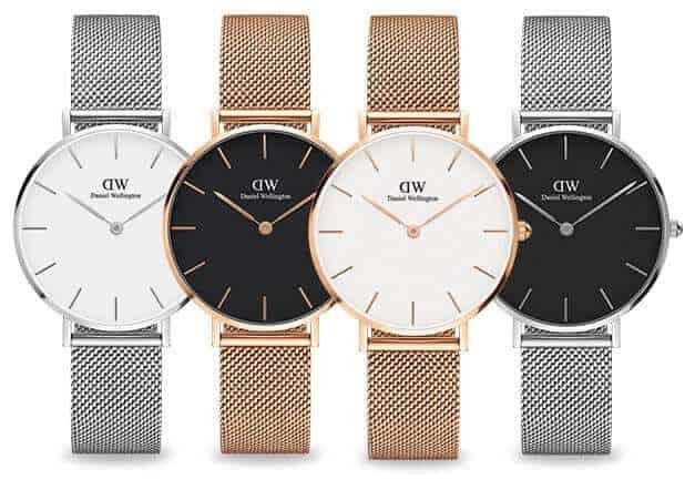 đồng hồ DW dây kim loại