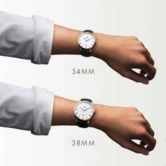Kết quả hình ảnh cho Phân biệt các loại size mặt đồng hồ