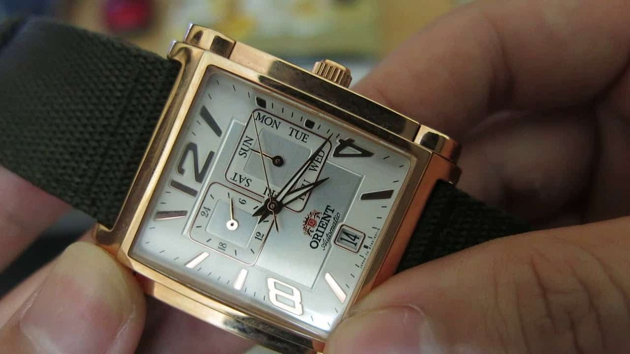 đồng hồ Orient mặt vuông