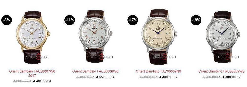Giá đồng hồ Orient Bambino Gen 2