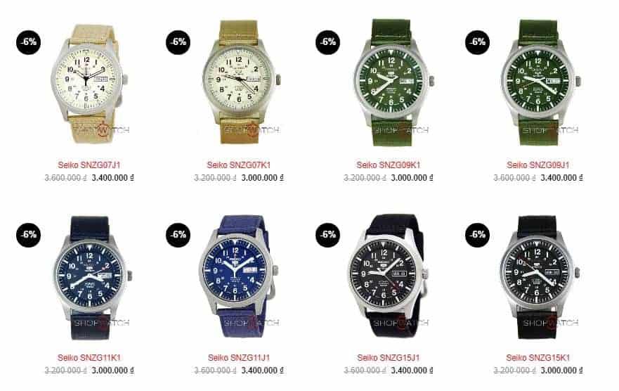 giá đồng hồ Seiko 5