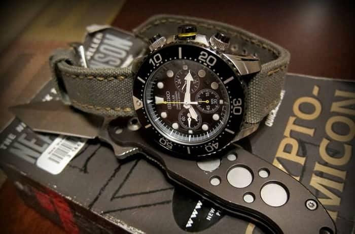 đồng hồ seiko solar chronograph