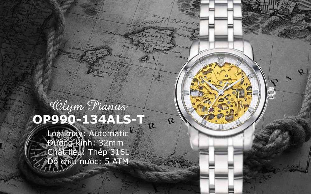 đồng hồ OP Skeleton nữ