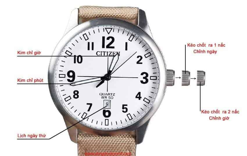 cách chỉnh đồng hồ đeo tay
